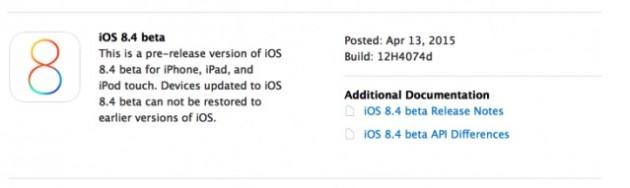 Disponibile iOS 8.4, beta per sviluppatori