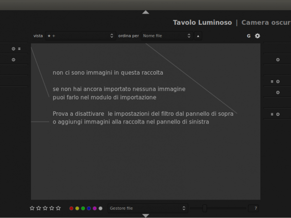 Lo strumento professionale Darktable RAW 1.2 supporta progetti di Lightroom