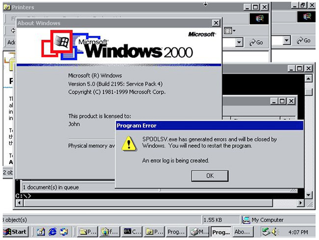 Doppia vulnerabilità nello spooler di stampa di Windows