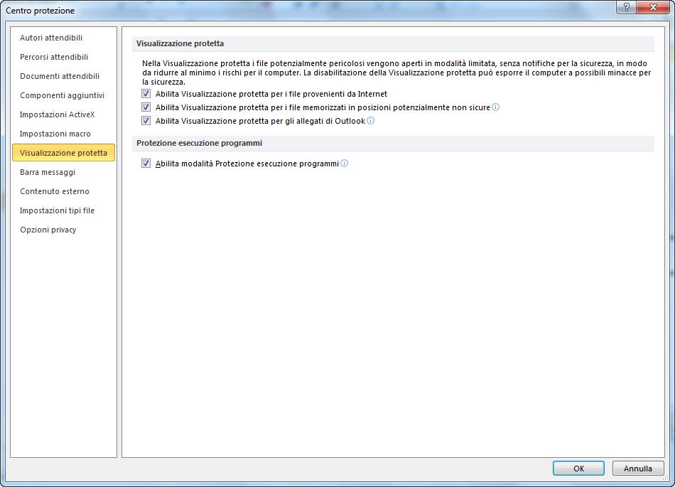 Come disattivare Visualizzazione/Modalità protetta in Microsoft Word