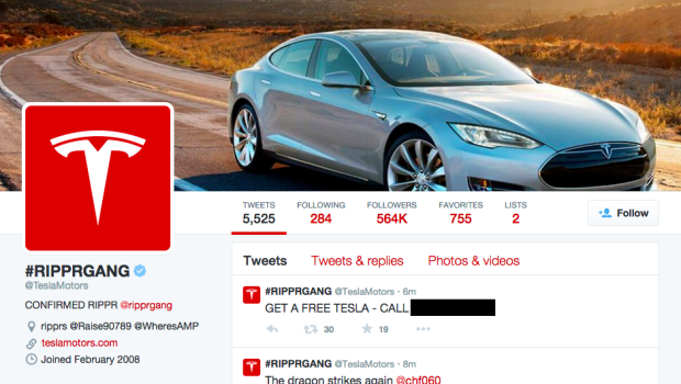 Tesla, hackerato sito web e account Twitter