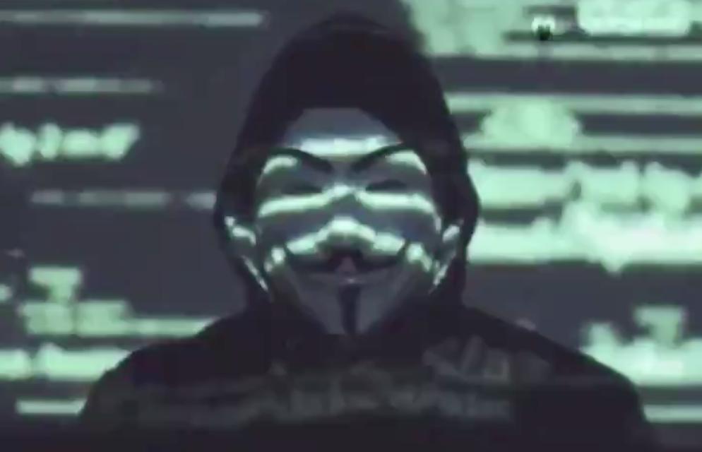 Anonymous a sostegno delle proteste contro la disuguaglianza razziale negli Stati Uniti