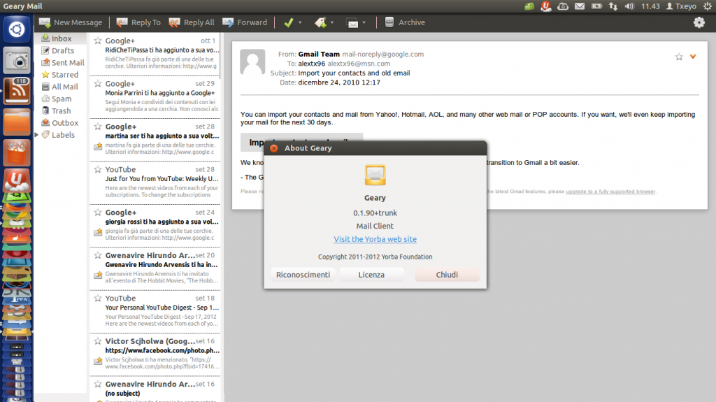 Email Client Open Source Geary ha bisogno del tuo aiuto