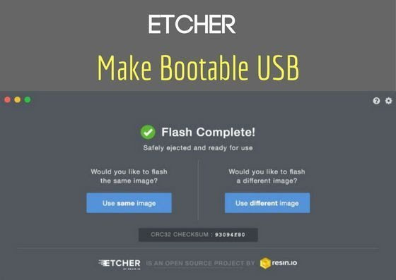Come masterizzare l'immagine del sistema operativo su Linux con Etcher