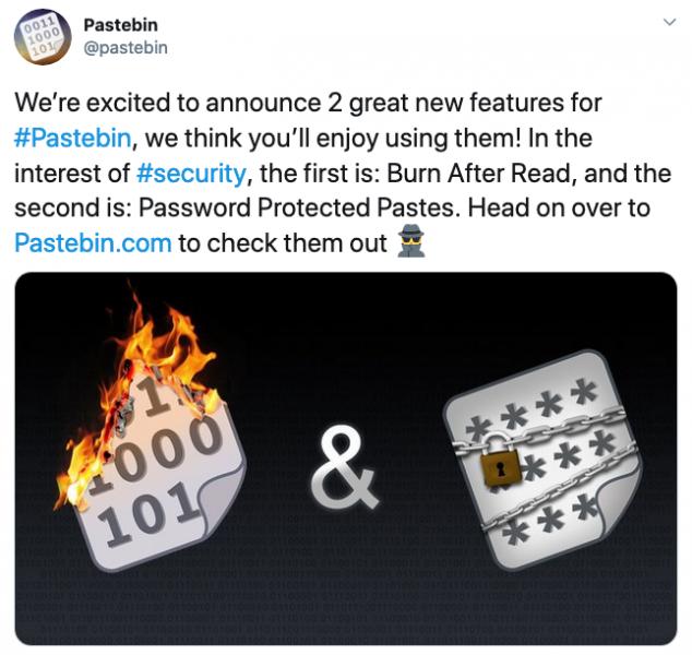 Le nuove funzionalità di sicurezza di Pastebin attirano critiche