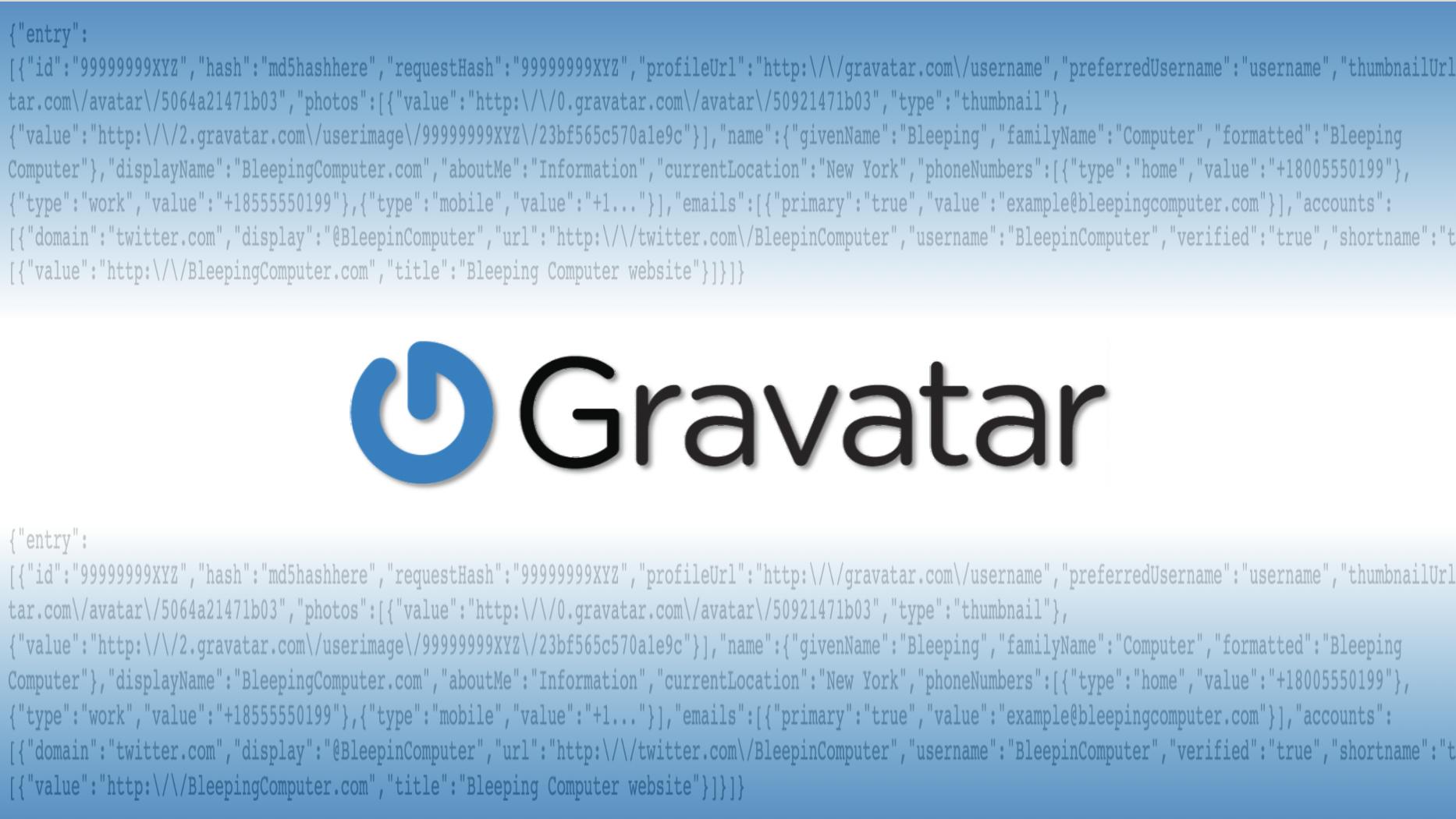 Il servizio di avatar online Gravatar consente la raccolta di massa delle informazioni dell'utente