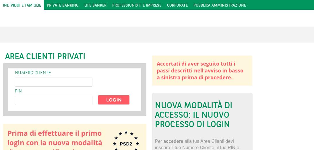 Phishing contro utenti banca BNL