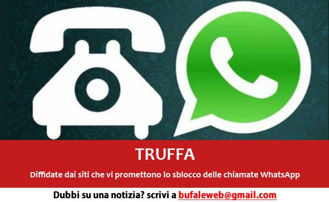 Truffe web: chiamate WhatsApp, esistono ma attenti alle bufale